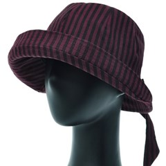KKU29.뒷리본 ST 여성 벙거지 모자 버킷햇 봄 가을 챙모자