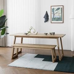 [애쉬턴내츄럴] A형 6인용식탁/테이블 세트 1800_(1707886)