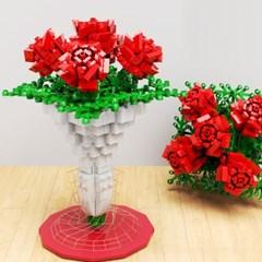 블록 플라워부캐 DIY 화사 블럭꽃 만들기 장미 꽃다발