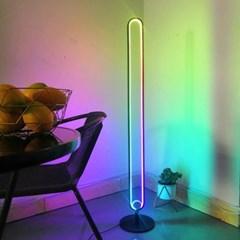 RGB 인테리어 PC방 거실 특이한 간접 무드등 스탠드