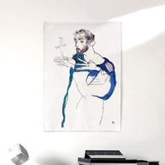 패브릭 포스터 클림트 드로잉 그림 천 액자 에곤 쉴레 66