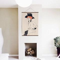 패브릭 포스터 미드센츄리 드로잉 그림 액자 에곤 쉴레 65