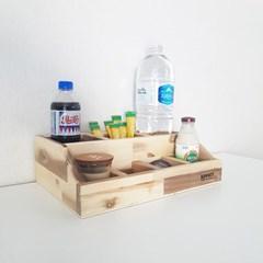 베이메이트리빙 원목 믹스커피 정리함 비타민 영양제 보관함