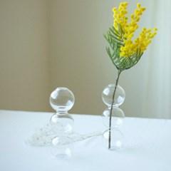 물방울 투명 유리화병 2size