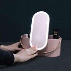 LED거울 메이크업박스 휴대용 화장품정리함/수납함