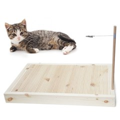고양이 원목 스크래쳐 고양이장난감 스크레쳐 원목스크래치