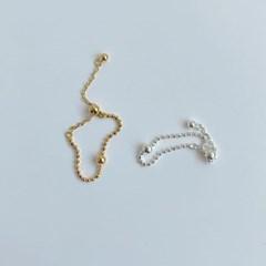 (silver 92.5) 드롭라인 은반지