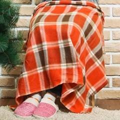 어린이집 학생 캠핑 차량용 포근한 오렌지 무릎 담요