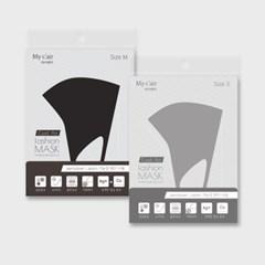 1+1 쾌적냉감 쿨 에어 패션 마스크 (블랙/그레이)