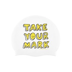 Take Your mark Swimcap White