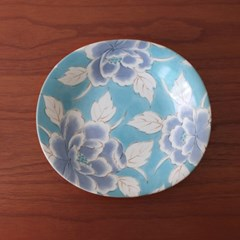 일본풍 레트로 빈티지 접시_플라워 카레볼 4P