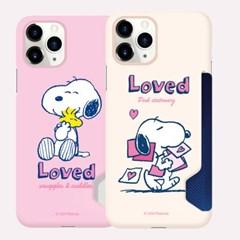 (카드하드) 스누피 러브러브 핑크크림 휴대폰케이스