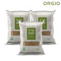 유기농 사탕수수 100% 비정제설탕 원당 유기농 황설탕 5kg x 3개