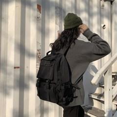 남자 여자 커플 캔버스룩 학생가방 데일리 기본 백팩