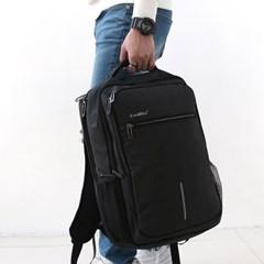 남자 여자 미니멀 여행용 USB 충천포트 수납공간 백팩
