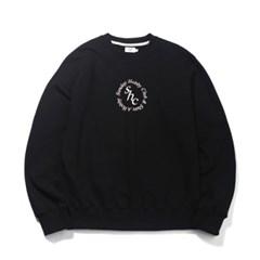 서클 로고 스웨트셔츠-블랙