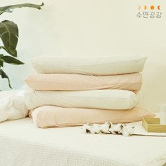 [수면공감] 우유베개 라텍스 경추베개 2개+소프트 베개