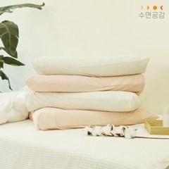 [수면공감] 우유베개 라텍스 경추베개 1개+소프트 베개