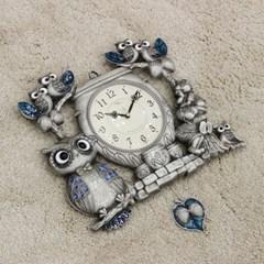 (kspz361)짝 부엉이 시계 주석_(1534024)