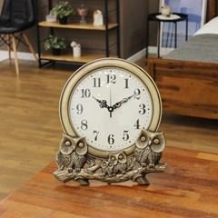 (kmy022)저소음 신주부엉이 가족 시계 (대)(벽/탁상 겸_(1534022)