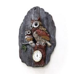 (katl046)벽걸이 부엉이 시계 엔틱_(1534019)