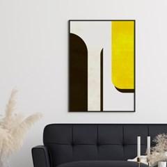 옐로우하프 추상화 그림 액자 포스터