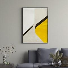 옐로우쉴드 추상화 그림 액자 포스터