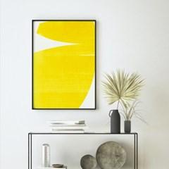 옐로우레이어 추상화 그림 액자 포스터
