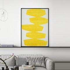 옐로우라인 추상화 그림 액자 포스터