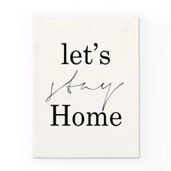 인테리어 패브릭 포스터_STAY HOME
