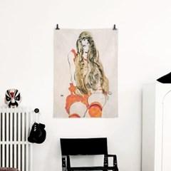 패브릭 포스터 명화 소녀 드로잉 그림 빈티지 액자 에곤 쉴레 81