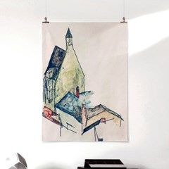 패브릭 포스터 명화 건축 드로잉 그림 빈티지 액자 에곤 쉴레 80
