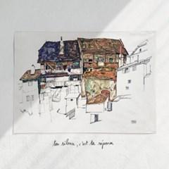 패브릭 포스터 명화 풍경 일러스트 그림 액자 에곤 쉴레 77