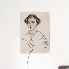 패브릭 포스터 초상화 일러스트 그림 액자 에곤 쉴레 75