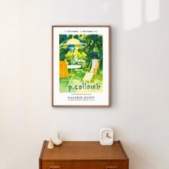풍경 빈티지 전시 포스터 시리즈 4종