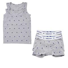 데이빗앤케이트 유아 속옷 내의 2세트 - 그레이스타