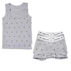 데이빗앤케이트 유아 속옷 내의 2세트 - 네이비스타