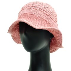 KAU32.지사혼방 골지챙 중년 여성 벙거지 모자 버킷햇