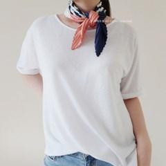 젠틀 스트라이프 플리츠 스카프 (2 colors)