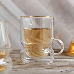 까사무띠 쿠르바 이중유리컵 (280ml)