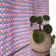 팝빈티지 LIKE A PANSY (Pink) 행잉프린트 커튼_(1178496)