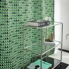 팝빈티지 LIKE A PANSY (Green) 행잉프린트 커튼_(1178495)