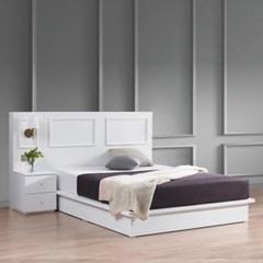 [스코나]멀린스 호텔형 조명 도장 킹 침대(협탁 1개)_(602863591)