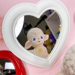 [맙소사잡화점] 미니 하트 벽걸이 겸용 탁상 거울
