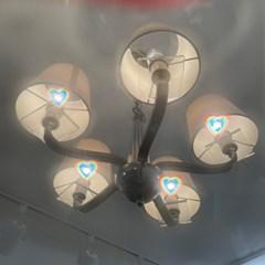 플리징 불빛이 하트로 보이는 선글라스
