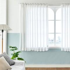 [모던하우스] ON 호텔식 나비주름 화이트 쉬폰커튼 창문