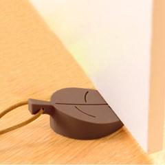 나뭇잎 실리콘 도어스토퍼/문닫힘방지 방문스토퍼