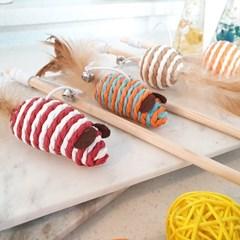 탄력좋은 스판로프 집사 필수템 낚시대 고양이 스틱 장난감