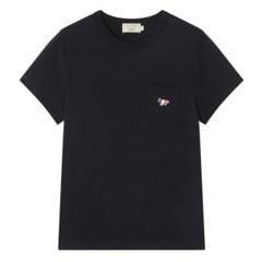 메종키츠네 W 트리컬러 폭스 패치 클래식 포켓 티셔츠