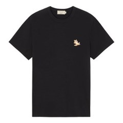 메종키츠네 칠랙스 폭스 패치 클래식 티셔츠 블랙 /반팔